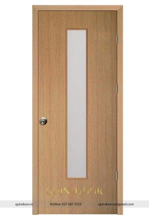 Cửa Nhựa Phủ PVC có ô kính QDC210