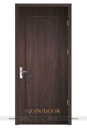 Cửa nhựa vân gỗ có phào QDC502