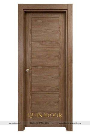 Cửa composite Quindoor phủ pvc vân gỗ soi huỳnh QDC405